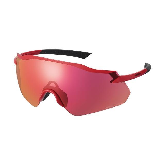 【SHIMANO】EQUINOX RIDESCAPE RD 一片式太陽眼鏡 金屬紅