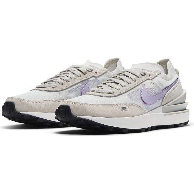 【NIKE 耐吉】運動鞋 女鞋 慢跑 緩震 W WAFFLE ONE米白灰 DC2533-101