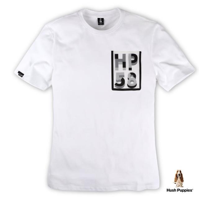 【Hush Puppies】男裝透明字母口袋設計短袖T恤(白 / 13110301)