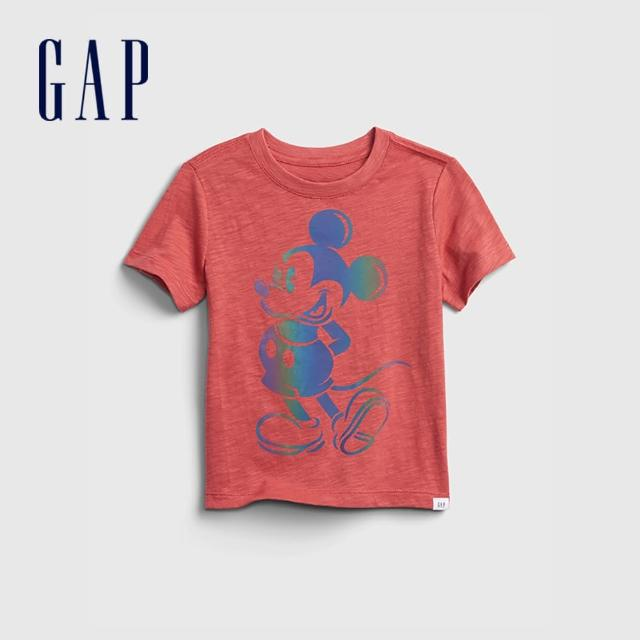 【GAP】男幼童 Gap x Disney 迪士尼系列透氣短袖T恤(687869-紅色)