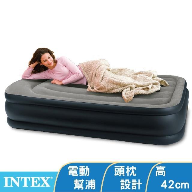 【INTEX】《豪華三層圍邊》單人加大充氣床-寬99cm(64131ED)
