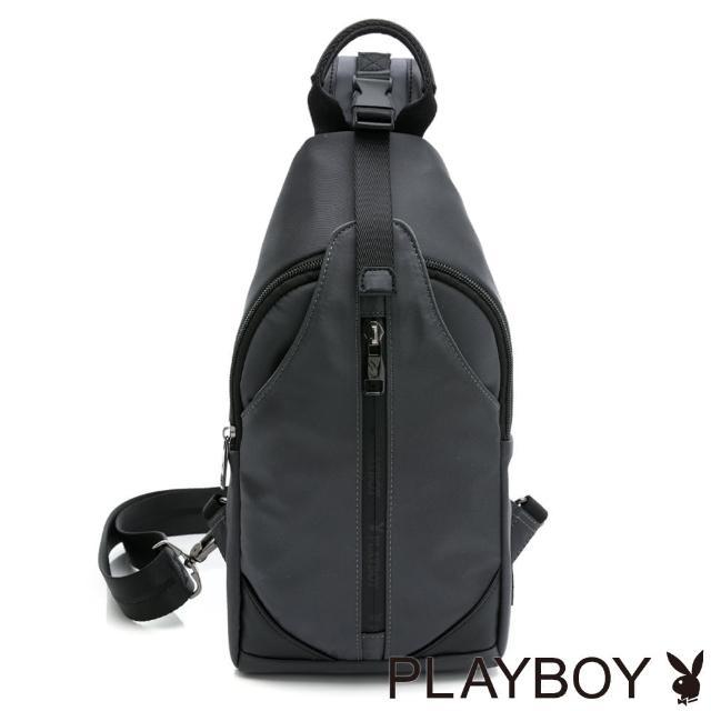 PLAYBOY【PLAYBOY】單肩背包 Lightweight系列(灰色)