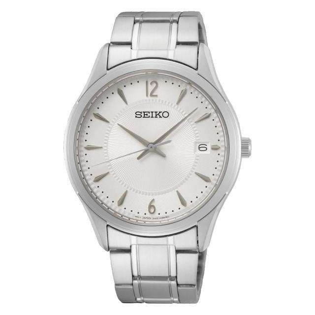 【SEIKO 精工】CS 時尚石英藍寶石水晶手錶39mm(SUR417P1/6N52-00D0S)