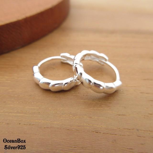 【海洋盒子】層疊圈圈造型925純銀易扣針式耳環.速銀色(925純銀耳環.圈圈耳環)