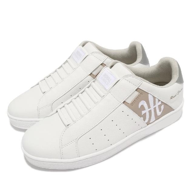 【ROYAL Elastics】休閒鞋 Icon 基本款 男鞋 皮革鞋面 舒適 簡約 質感 穿搭 白 棕(01912078)