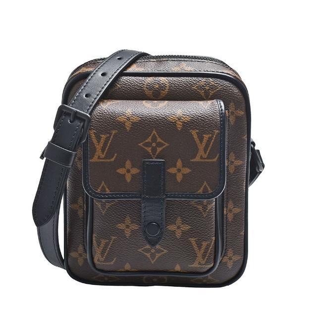 【Louis Vuitton 路易威登】M69404 CHRISTOPHER經典Monogram帆布拉鍊斜背包(黑)