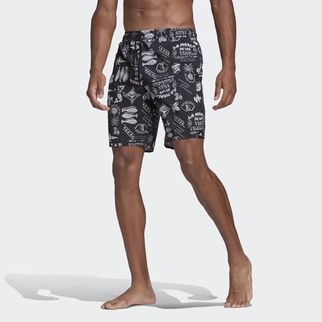 【adidas 愛迪達】短褲 男款 運動 足球 慢跑 海灘褲 FESTIWLD CLX CL 黑 GM2226