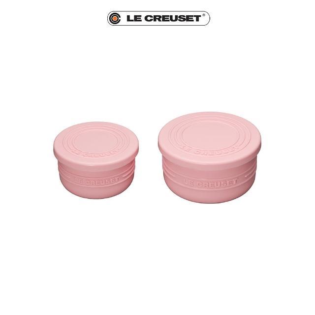 【Le Creuset】耐熱矽膠圓型烤模組-附蓋2入(淡粉紅)