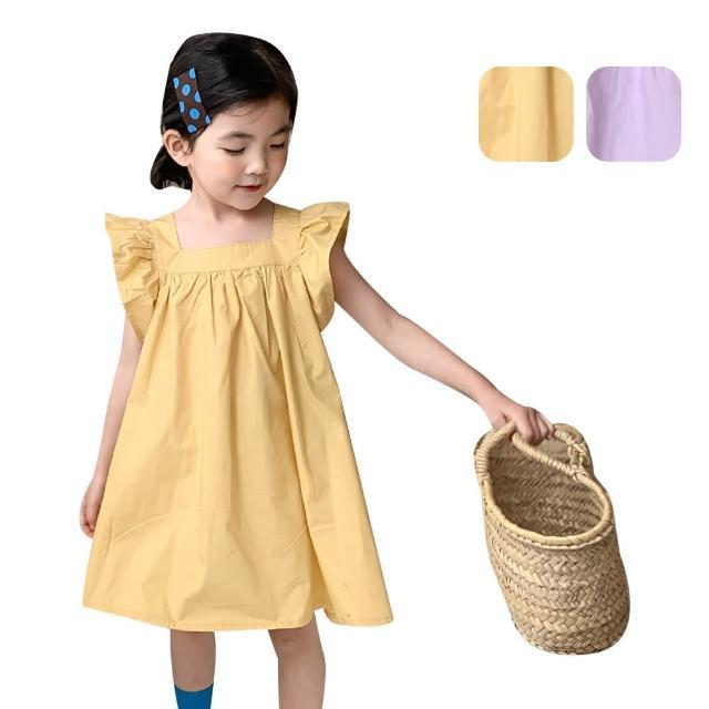 【Baby 童衣】女童洋裝 韓版飛袖連身裙 88702(共2色)