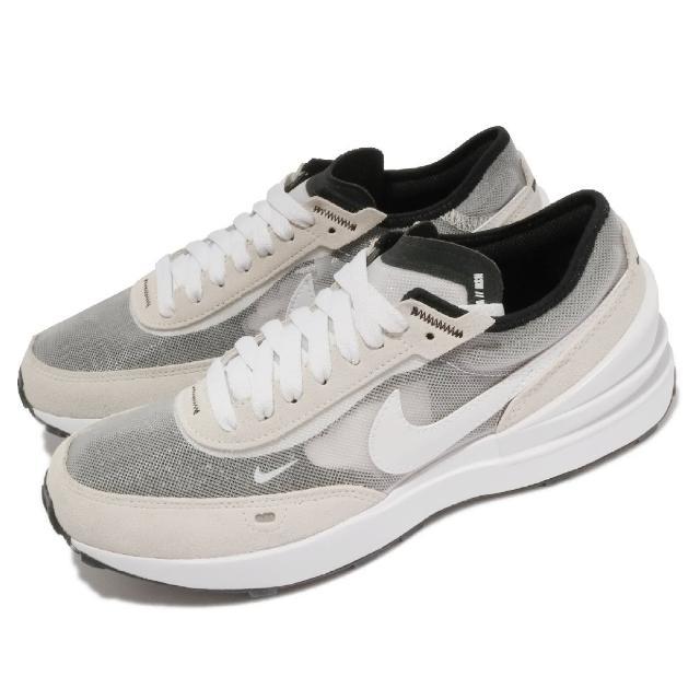 【NIKE 耐吉】休閒鞋 Waffle One 運動 女鞋 基本款 簡約 舒適 穿搭 麂皮 灰 白(DC0481-100)