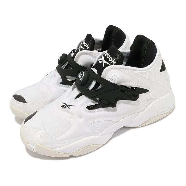 【REEBOK】休閒鞋 Pump Court 襪套 運動 男鞋 海外限定 舒適 避震 充氣科技 穿搭 白 黑(FW7817)