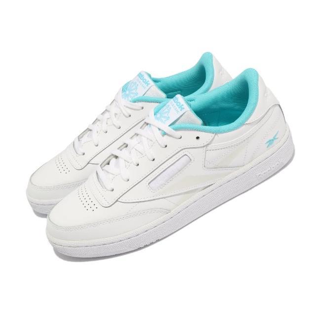 【REEBOK】休閒鞋 Club C 85 反光 運動 男女鞋 海外限定 基本款 簡約 舒適 情侶穿搭 白 藍(FV1096)