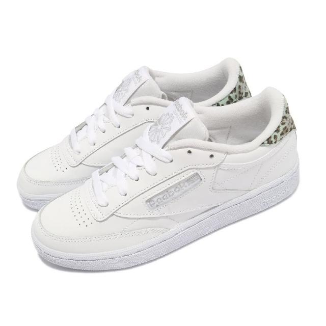 【REEBOK】休閒鞋 Club C 85 低筒 運動 女鞋 海外限定 基本款 簡約 舒適 穿搭 白 銀色(H67806)