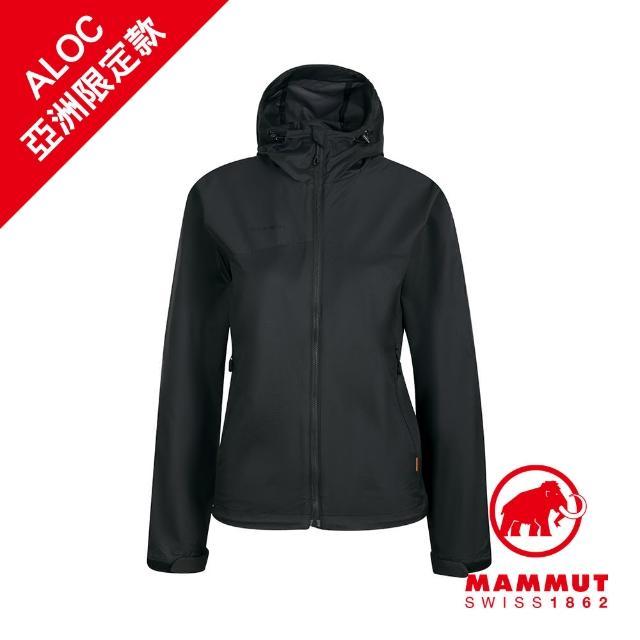 【Mammut 長毛象】Glider WB Hooded Jacket Women 輕量防風防潑水連帽外套 黑色 女款 #1012-00480