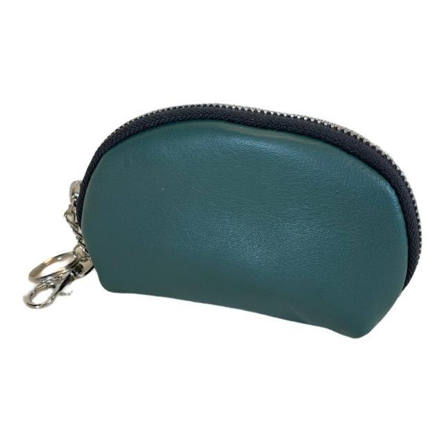 【Continuita 康緹尼】頭層牛皮零錢包/化妝包/印章包-綠色(手拿小包/零錢包/化妝包)
