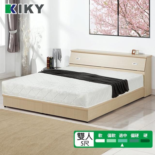 【KIKY】二代韓式高碳鋼舒眠彈簧床墊(雙人5尺)