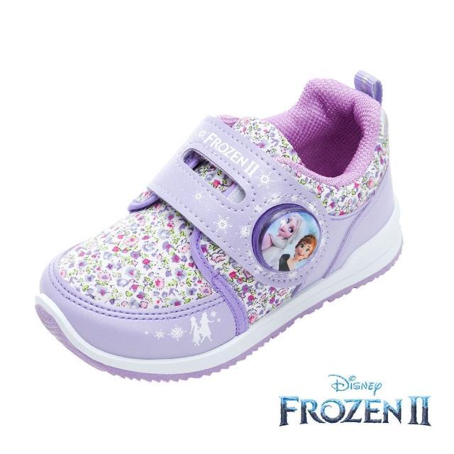 【Disney 迪士尼】冰雪奇緣2 電燈款 運度鞋 薰衣紫(FNKX04917正版授權)