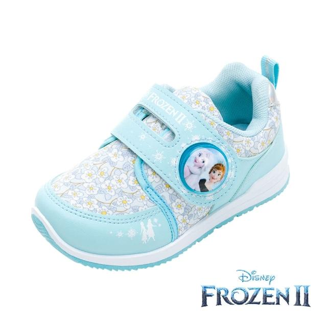【Disney 迪士尼】冰雪奇緣2 電燈款 運動鞋 湖水藍(FNKX14226正版授權)