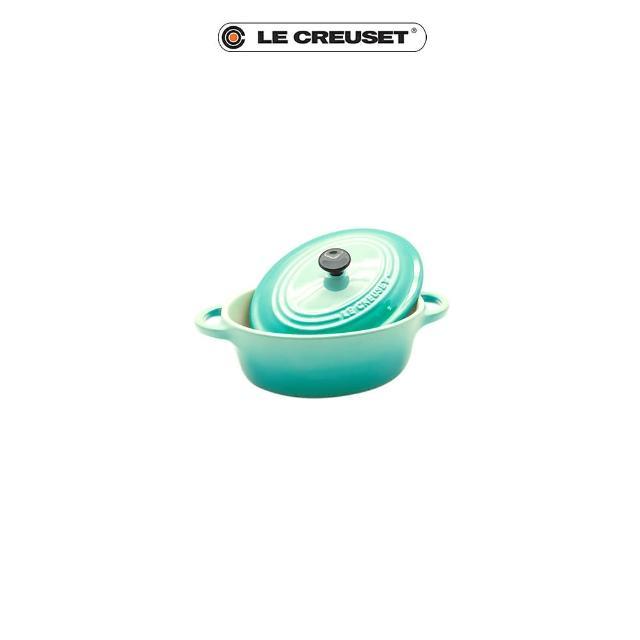 【Le Creuset】瓷器迷你橢圓烤盅(薄荷綠)