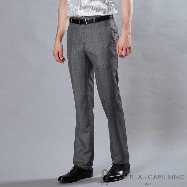 【ROBERTA 諾貝達】合身版 斯文紳士 平面西裝褲(灰色)