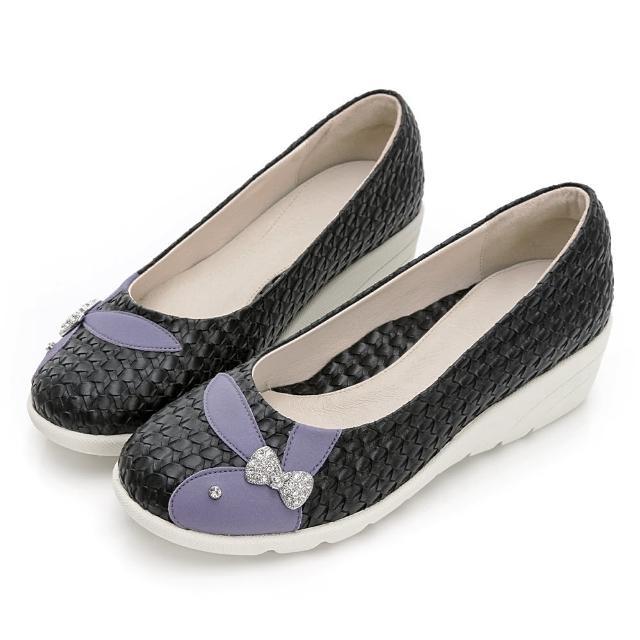 【PLAYBOY】GOPLAY 走不累 Charming 專利娃娃鞋-黑-Y7292CC