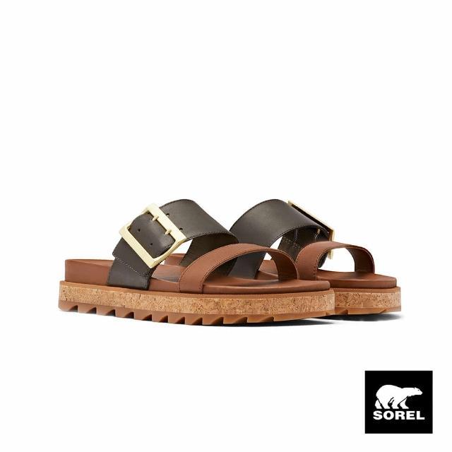 【SOREL】女款城市漫遊系列拖鞋(駝色)