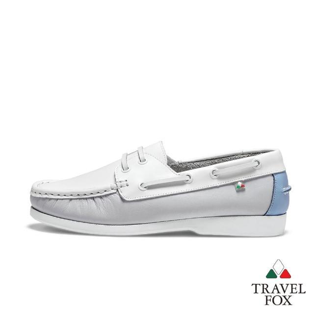 【TRAVEL FOX 旅狐】女款 DOVER 糖果色休閒帆船鞋(921428-178 清涼薄荷藍)