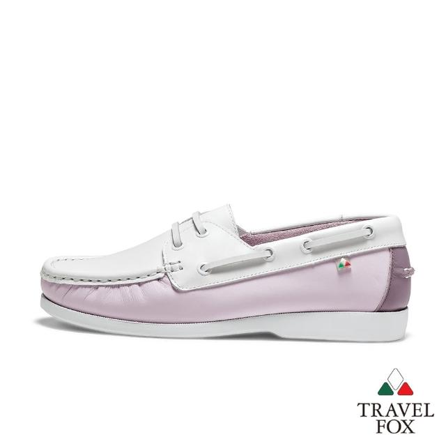 【TRAVEL FOX 旅狐】女款 DOVER 糖果色休閒帆船鞋(921428-142 草莓軟糖粉)
