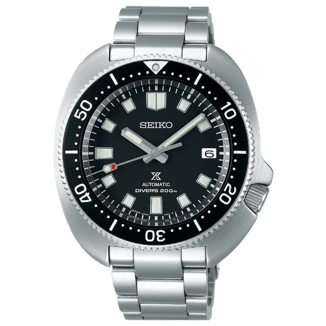 【SEIKO 精工】PROSPEX DIVER SCUBA 海龜鋼帶經典機械錶-黑42.6mm(SPB151J1/6R35-00T0D)