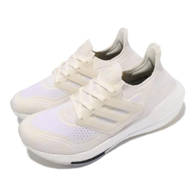 【adidas 愛迪達】慢跑鞋 Ultraboost 21 運動 女鞋 愛迪達 輕量 透氣 舒適 避震 路跑 白 黑(FX7730)