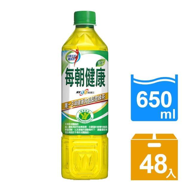 【每朝健康】綠茶650ml 24入x2箱(共48入)