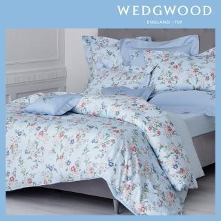 【WEDGWOOD】100%天絲300織床包兩用印花被套枕套四件組-蘋果花園(雙人)
