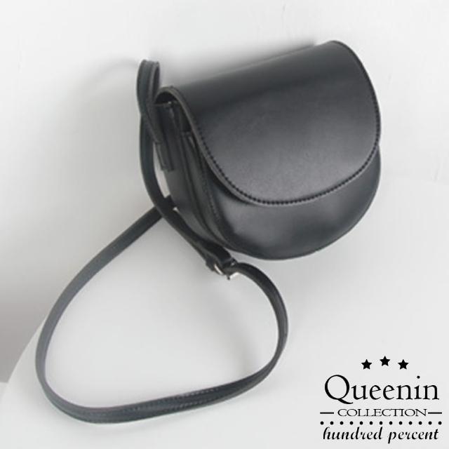 【DF Queenin】日系復古百搭馬鞍包-共4色