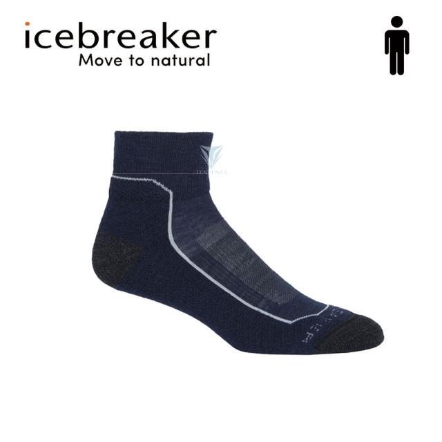 【Icebreaker】男 短筒薄毛圈健行襪-深藍 IB105102(美國製造/短筒/健行襪/美麗諾)