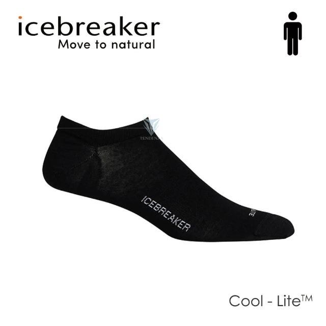 【Icebreaker】男 Cool-Lite 輕薄毛圈隱型襪-黑 IB104685(美國製造/短筒/慢跑襪/美麗諾)