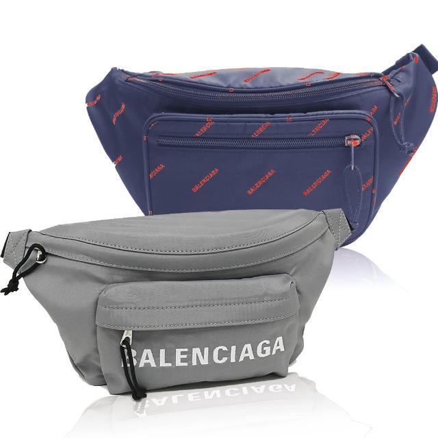 【Balenciaga 巴黎世家】經典印花LOGO/素面腰包(任選)
