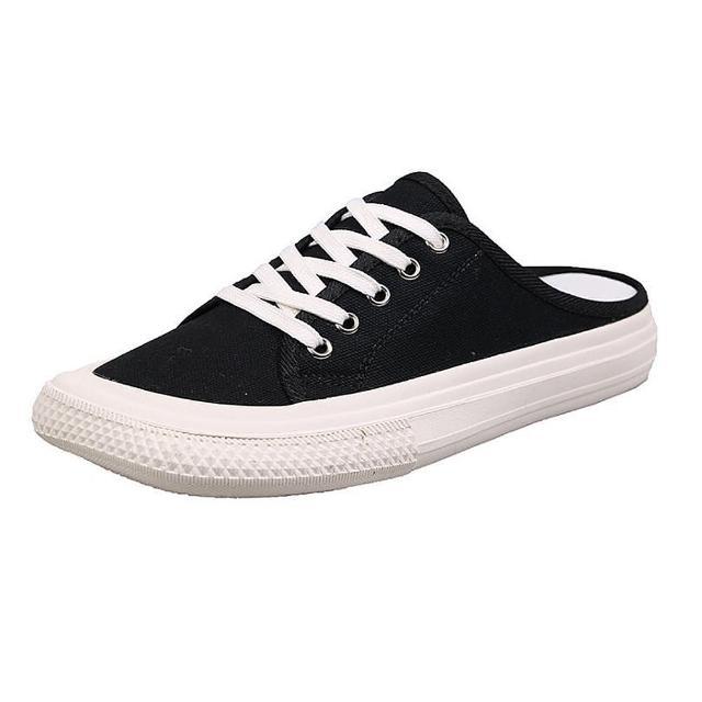 【Taroko】舒活印象帆布方頭低跟休閒穆勒鞋(6色可選)