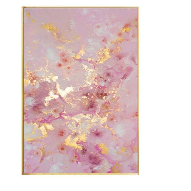 【JEN】北歐創意粉色系流彩壁畫掛畫裝飾畫30*40cm