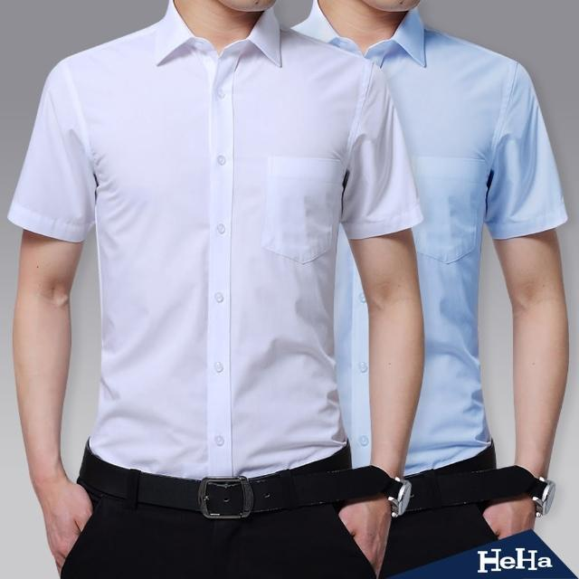【Heha】上衣 商務斜紋短袖襯衫(五款)