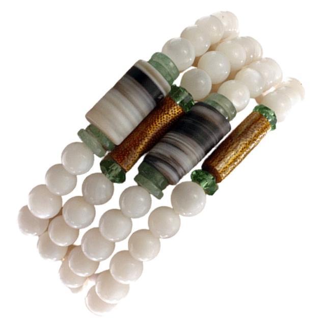 【十方佛教文物】藥師珠&珍珠硨磲108念珠6mm