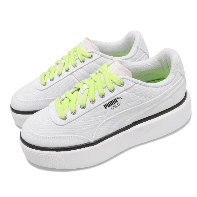 【PUMA】休閒鞋 Oslo Maja Summer 女鞋 厚底 增高 帆布鞋 基本款 穿搭 白 黃(37505801)