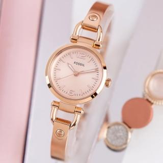 【FOSSIL】公司貨  Georgia 柔美氣質手環式不鏽鋼腕錶/玫瑰金 女錶(ES3268)