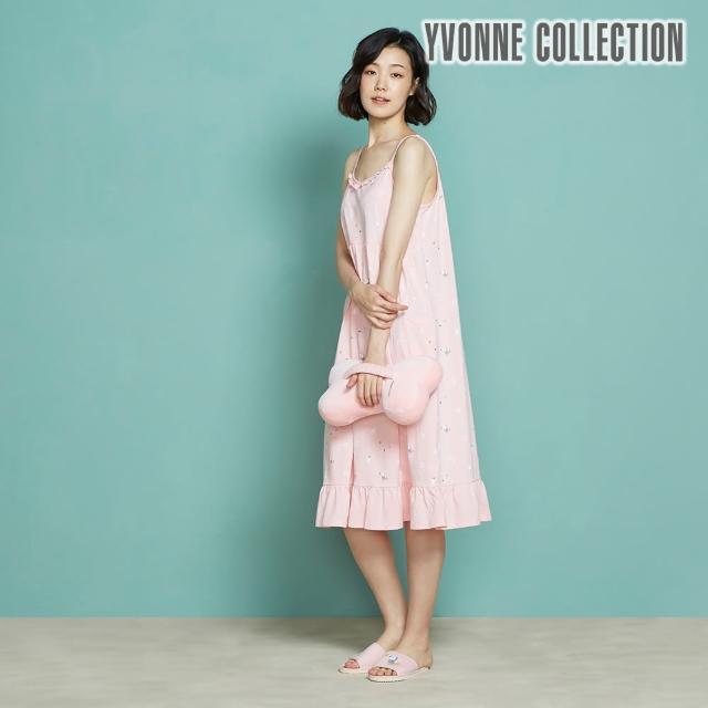 【Yvonne Collection】立體車用骨頭頸枕_34公分(珊瑚粉)