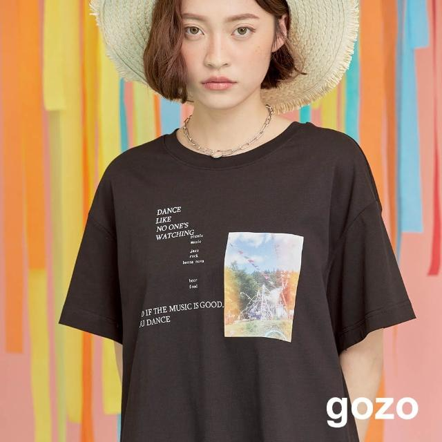【gozo】minus g-限量系列 MIT彩色相片上衣(兩色)