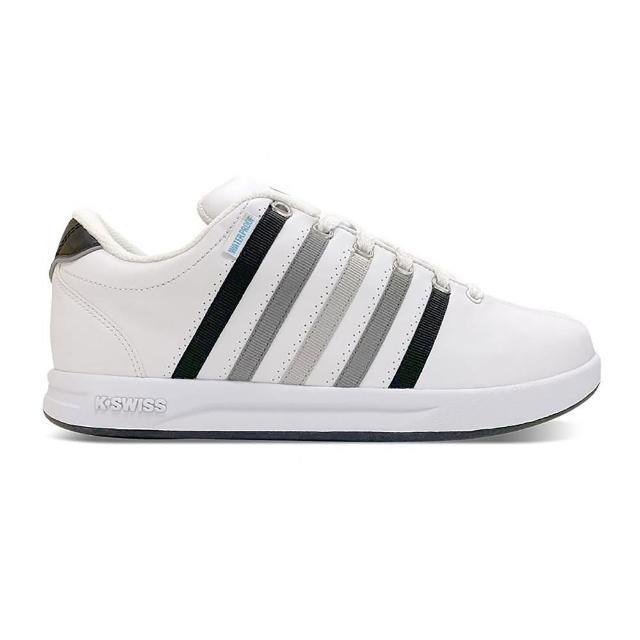 【K-SWISS】防水 時尚運動鞋 Court Pro S WP-男 白 灰 黑(07122140)