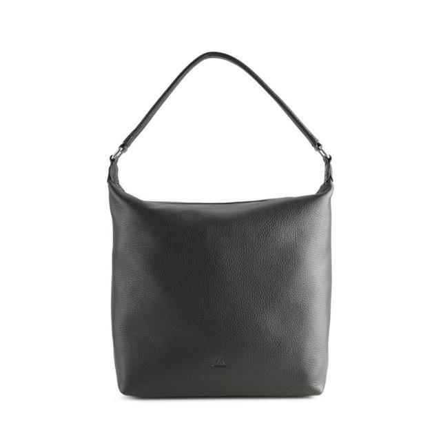 【MARKBERG】Mimi 丹麥手工牛皮率性手提包 肩揹包 斜背包(簡約黑)