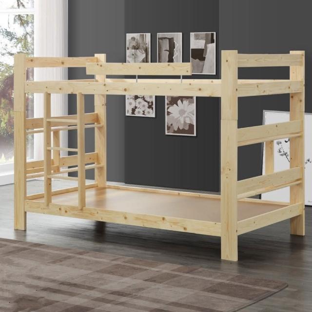【MUNA 家居】3.5尺白松木雙層床(雙層床 上下舖 單人床 床台)