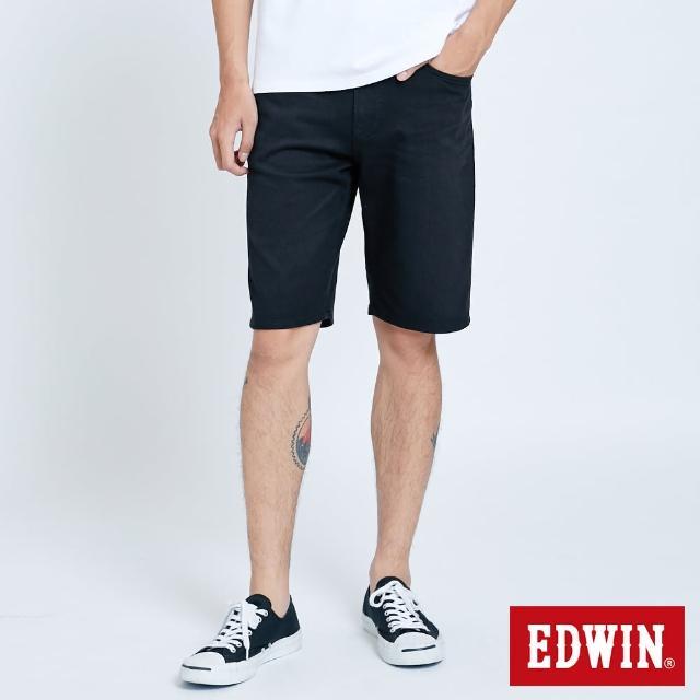 【EDWIN】JERSEYS 迦績EJ2棉EFS加大碼短褲-男款(黑色)