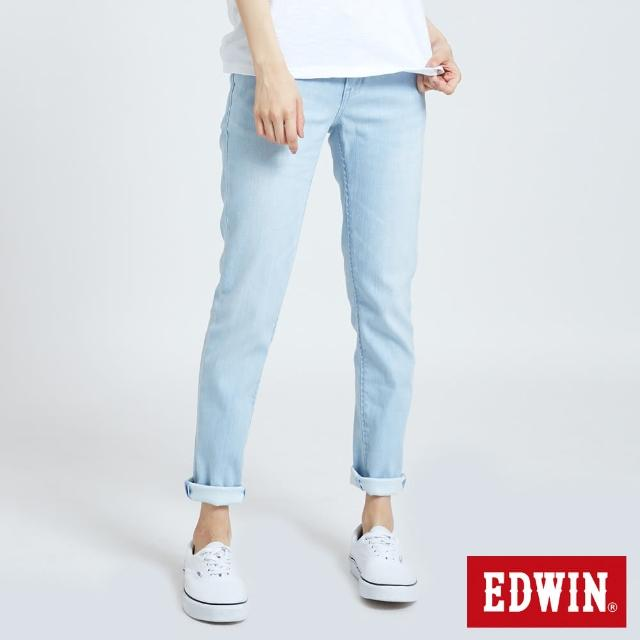 【EDWIN】MISS EDGE涼感AB牛仔褲-女款(重漂藍)