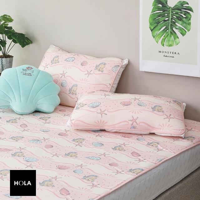 【HOLA】迪士尼系列公主涼感保潔墊枕用二入-小美人魚